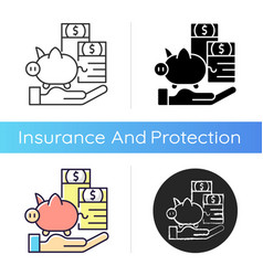 payment protection insurance icon vector image