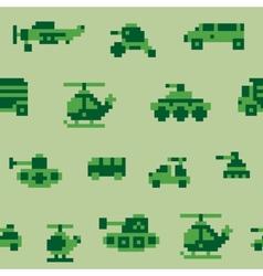 Pixel war pattern vector image