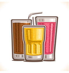 Refreshing drinks vector