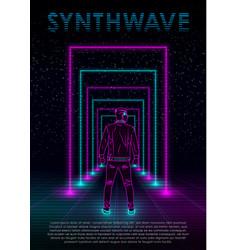 retrowave synthwave vaporwave vector image