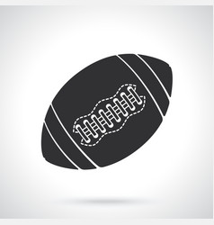 silhouette ball for american football or rugby vector image