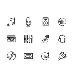 simple set modern and retro music equipment vector image