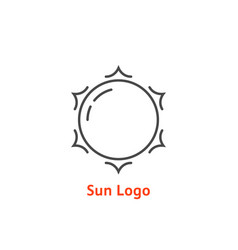 simple thin line sun logo vector image