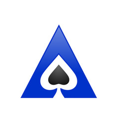 Spade ace triangle symbol logo design vector