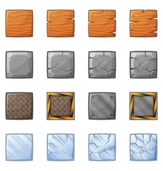 Square Blocks For Physics Game 1 vector
