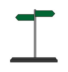 Street arrow sign icon image vector
