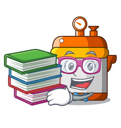 Student with book electric pressure cooker vector