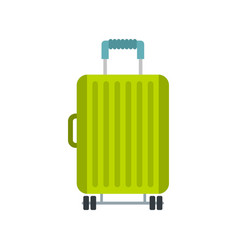 suitcase on wheels icon flat style vector image