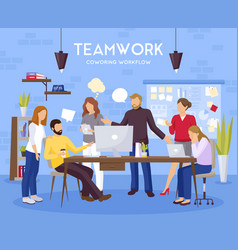 Teamwork background vector