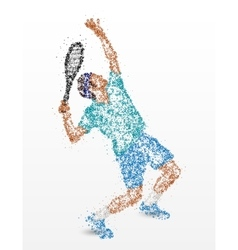 Tennis player abstraction vector