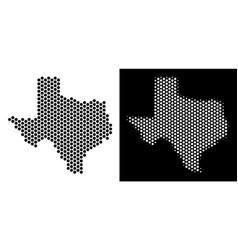 Texas map honeycomb mosaic vector
