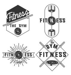 vintage fitness gym emblems vector image