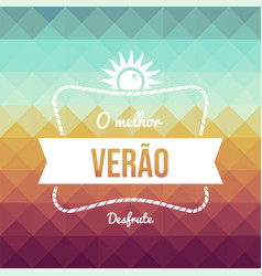 vintage portuguese summer vacation greeting card vector image