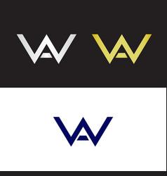 Wa initials vector