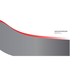 wave background with gray red color vector image