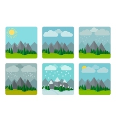 Weather in flat style vector image