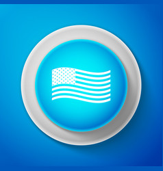 white american flag icon isolated flag of usa vector image