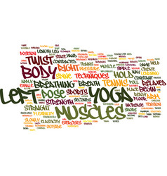 Yoga and sports tennis text background word cloud vector