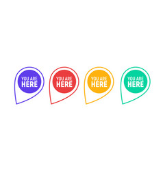 you are here sign icon mark destination vector image