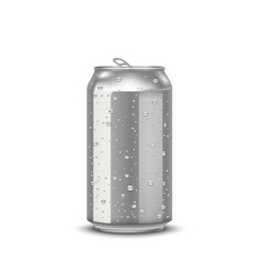 realistic aluminum cans vector image vector image