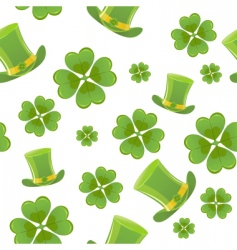 seamless St Patrick's day background vector image