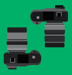top view of digital camera vector image vector image