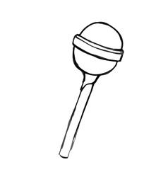 Chupa Chups doodle hand drawn vector image