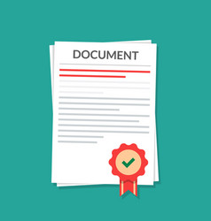 document with a seal natorially certified power vector image