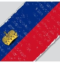Liechtenstein grunge flag vector image vector image