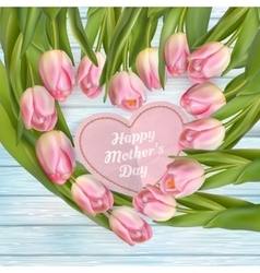 Mothers day card EPS 10 vector image vector image