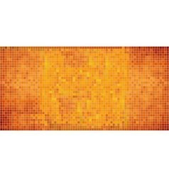 Orange abstract mosaic background vector image vector image