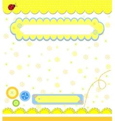 Romantic yellow scrapbooking for invitation vector image vector image