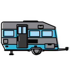 trailer home isolated vector image