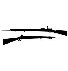 Vintage military rifles vector