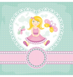 abstract baby card with girl vector image
