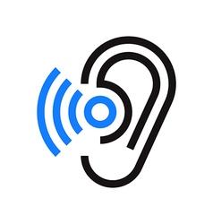 Hearing symbol vector image vector image
