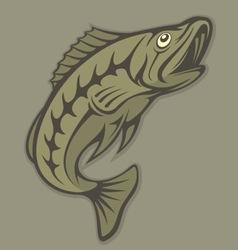 jumping fish vector image
