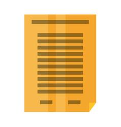 sheet bent corner symbol vector image