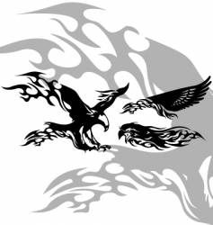 fire eagle vector image vector image