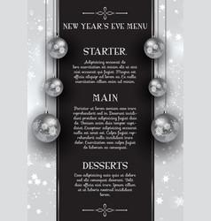 new years eve menu design vector image