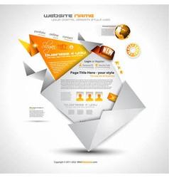 Origami Website - Elegant Design vector image vector image