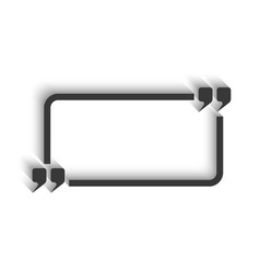 Quote and rectangle frame for text isoleted mockup vector image