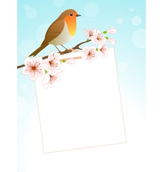 Spring message vector image