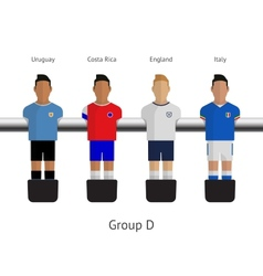 Table football soccer players Group D vector image