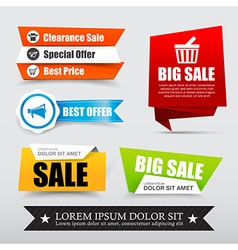 045 Collection of web tag banner for promotion vector image