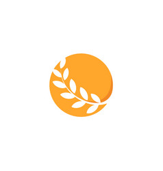 abstract circle orange color logo branch with vector image