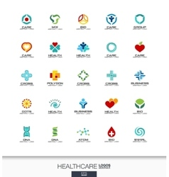 Abstract logo set for business company healthcare vector