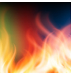 abstract rainbow fire background vector image