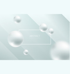 Abstract sphere white background pearly balls vector