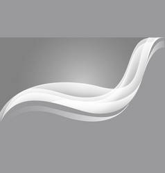 abstract white wave curve on grey vector image